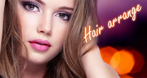 ねじりサイド寄せアレンジヘア
