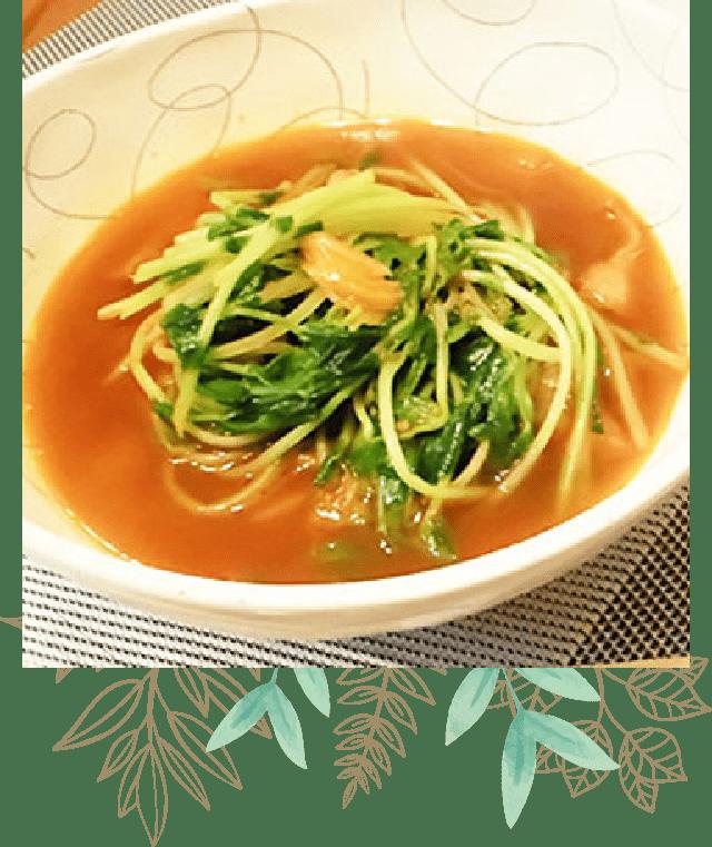 豆苗のシャキシャキHOTスープ