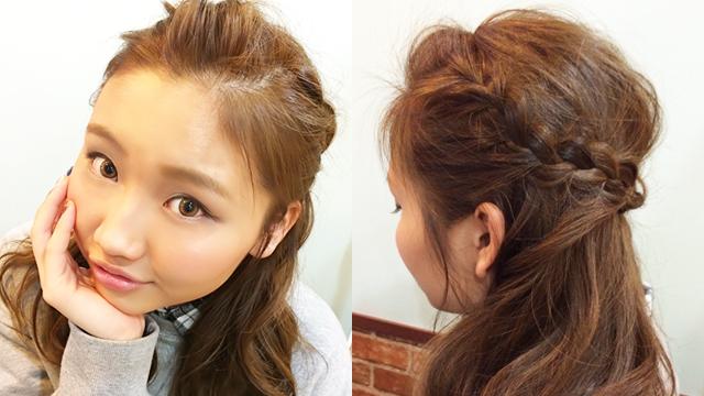 髪型だけで作る美人の法則「甘め美人ヘアの作り方」