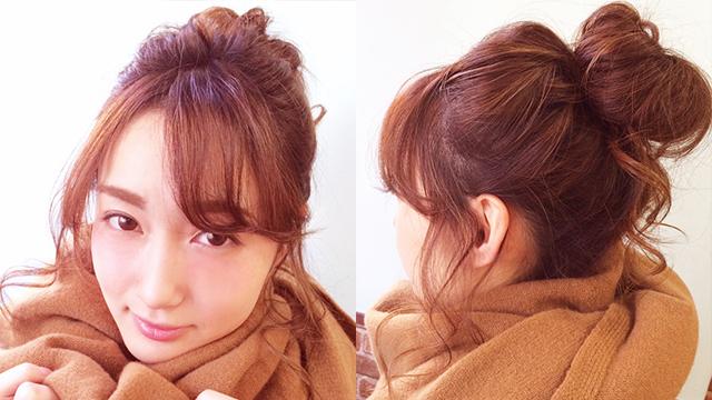 冬のゆるヘアアレンジ
