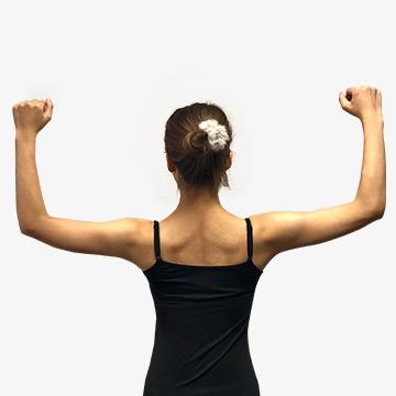 肩こりや悪い姿勢になる原因に!「�@なで肩の治し方」