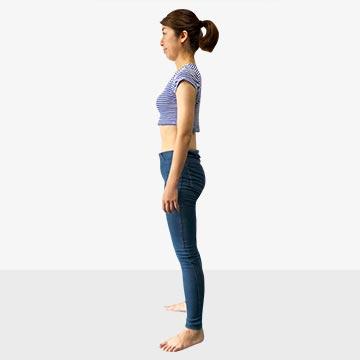 お腹ポッコリさんの原因と解決法公開!�A後ろ体重さんのための背筋ピーンエクササイズ